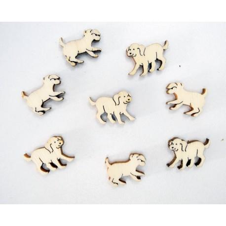 Holz Tischdeko Motiv Hunde - 30 Gramm im Beutel