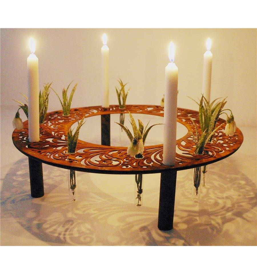 barock kerzen reagenzglasring 50 cm metallmichl. Black Bedroom Furniture Sets. Home Design Ideas