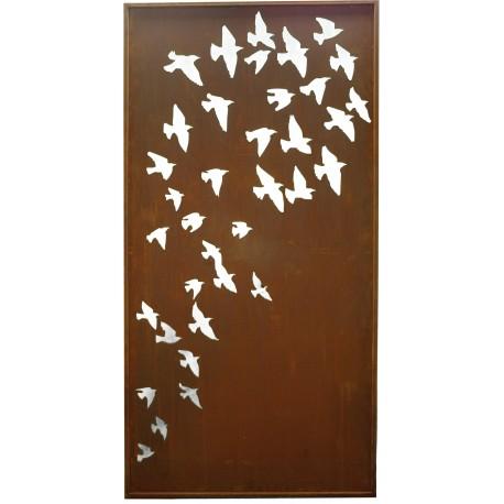 Vogelschwarm sichtschutzwand - Vogel Sichtschutzwände Metall