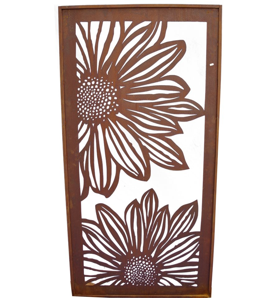paravent gerbera offen 200 cm hoch metallmichl. Black Bedroom Furniture Sets. Home Design Ideas