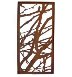 Metall Sichtschutzwand - Äste - 2 Meter hoch
