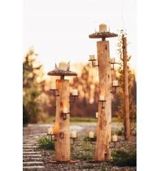 """Kerzenhalter """"Natur"""",112 cm Akazie XL - Nicht mehr Sortiment"""