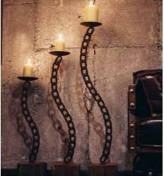 """Candle Chain """"gebogen"""" Größe 3"""