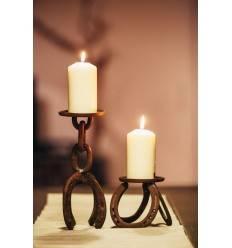 """Edelrost-Kerzenständer """"Hufeisen"""" - Größe 1, Höhe 28 cm"""