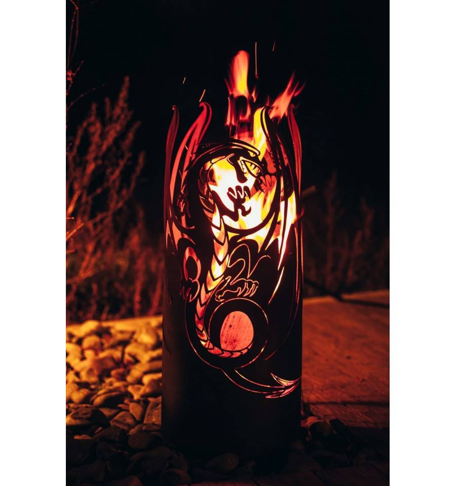 Feuers ule drache kleinster mobiler gasgrill for Feuerkorb hornbach