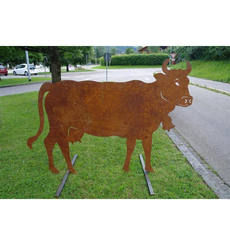 Kuh lebensgro 140 x 200 cmartikel die nur im laden zu for Tiere aus metall gartendeko