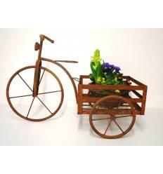 Deko Fahrrad / Dreirad aus rostigem Metall zum Bepflanzen