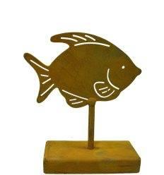 Deko Fisch als Tischdeko - Fisch aus Blech (Edelrost)