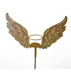 Flügelchen Teelichthalter, Höhe 20 cm, auf Stab 100 cm