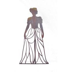"Rankhilfe ""Mademoiselle"" mit Kleid - Höhe 120 cm"