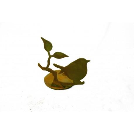 Teelichterhalter mit süßem Vögelchen als nette Tischdekoration