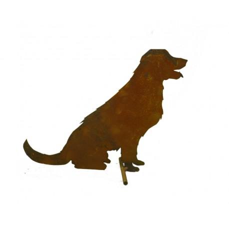 edelrost bauernhof hund stehend mittelgro 24 cm hoch. Black Bedroom Furniture Sets. Home Design Ideas