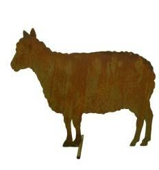Bauernhof Tier Schaf seitlich stehend, mittelgroß, 30 cm lang, 28 cm hoch