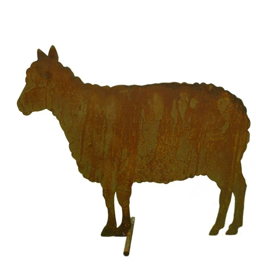 Edelrost Schaf Seitlich Stehend Als Gartentier Bauernhof Deko