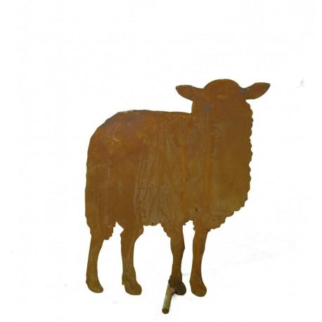 Bauernhof Tier Schaf stehend von vorne, mittelgroß, 27 cm hoch, 22 cm lang