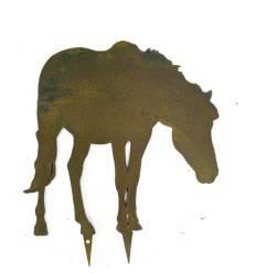 Bauernhof Minitier Pferd grasend zum Stecken