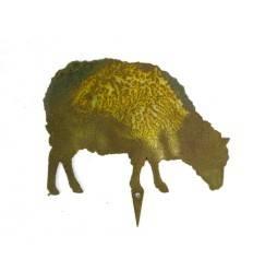 Bauernhof Minitier Schaf seitlich grasend zum Stecken