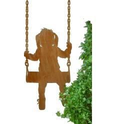 Deko Kinderfigur - Maedchen auf Schaukel