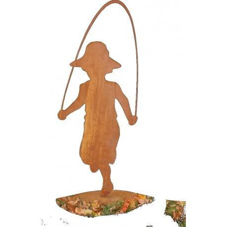 Mädchen -Jana- mit Springseil 150 cm hoch