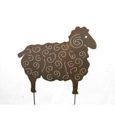 Schaf Heidschnucke zum stecken 40 x 50 cm