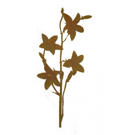 Glockenblume 110 cm groß aus 3 mm Stahl mit kurzem Stab