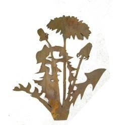 Löwenzahn 80 cm hoch mit kurzem Stab zum Stecken