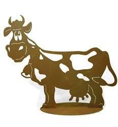 "Kuh ""Liselotte"" 60 cm lang auf Platte"