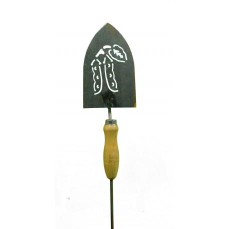 Deko Gartenschaufel zum Stecken mit Motiv Bohnen