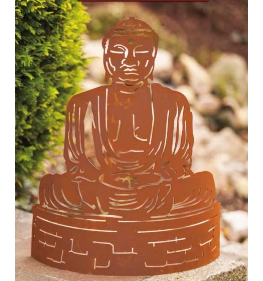 Edelrost figur buddha for Edelrost figuren