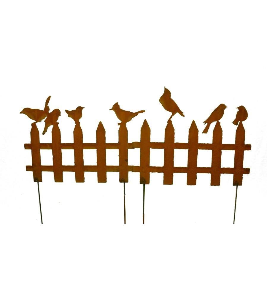 2er set rost vogelzaun klein 50 cm breit zum stecken. Black Bedroom Furniture Sets. Home Design Ideas