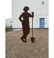 """Gärtner """"Paul"""" mit Schaufel, zum Stecken 175cm groß"""