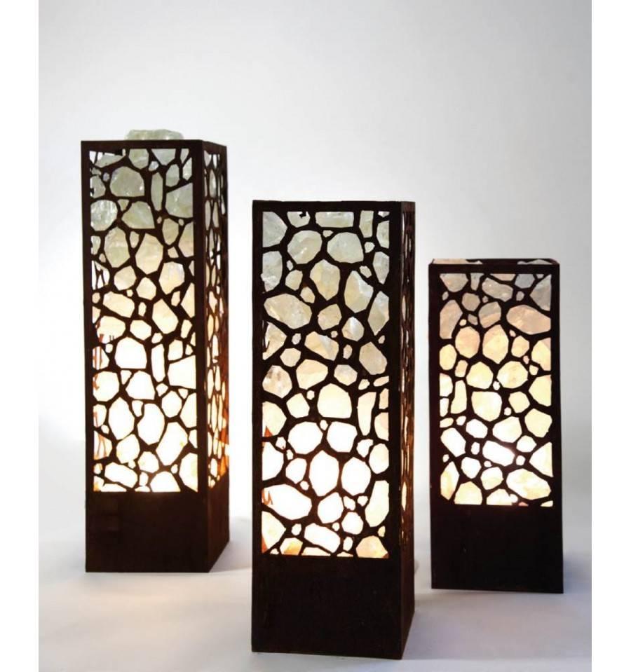 edelrost lichts ule mit led strahler edelrost metall s ule garten. Black Bedroom Furniture Sets. Home Design Ideas