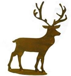kleiner Edelrost Hirsch 36 cm hoch (aus großer Variante Rehfamilie)