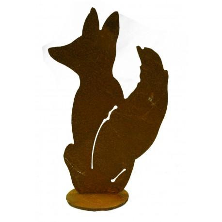 kleiner Deko Fuchs sitzend Höhe 16 cm