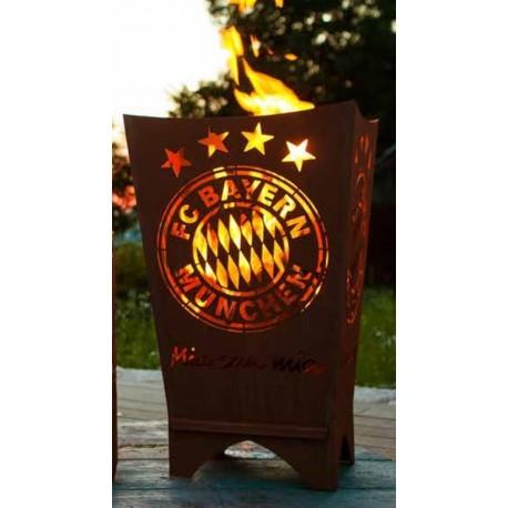 "FC Bayern Feuerkorb eckig "" Mia san mia"""