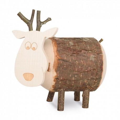 Spardose Holz Elch