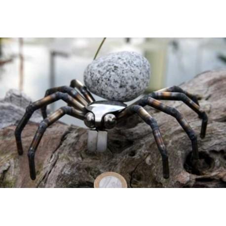 Spinne mit Granit-Stein klein