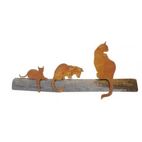 3er Set Katzen für Kante