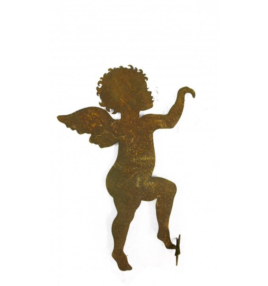 Edelrost engel kletternd zum einh ngen h 50cm rostdeko for Engel edelrost