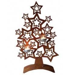 Sternenbaum 50 cm hoch für Teelichter inkl. Gläser