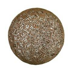 "Kugel "" Coureges"" Durchmesser 70cm, aus hunderten kurzen Eisenstäben zusammengeschweist"