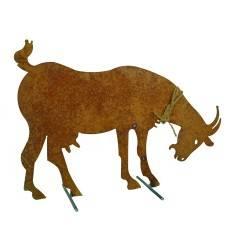 Deko Ziege lebensgroß mit Stäbe - Gartendeko