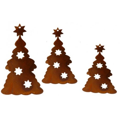 kleine Metall Baum Anhänger für Weihnachten