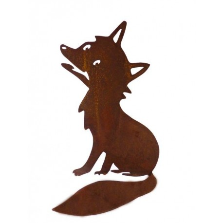 "Edelrost-Figur Fuchs ""Urmel"" gross, Höhe 26 cm, Breite 20 cm"