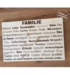 """Wandbild: """"Familie"""" auf Kiefernholz 60x40cm"""