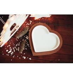 Tischherz 23 cm breit inkl. kleinerem Porzellan-Herz