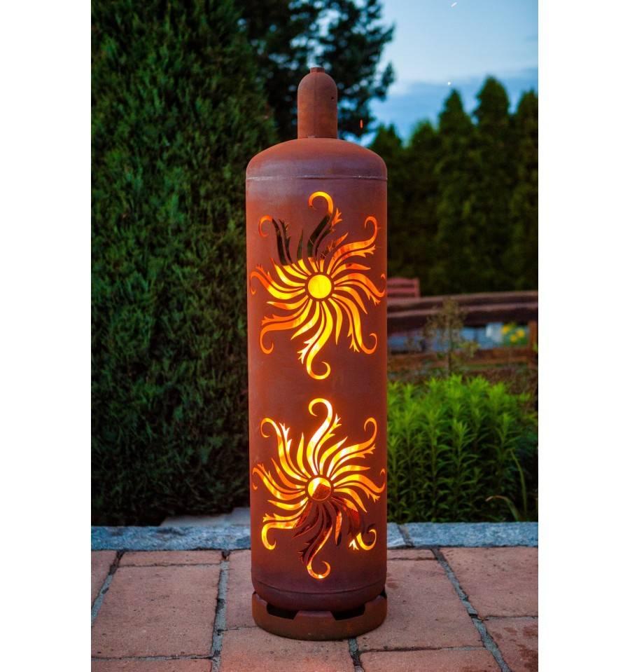 Feuerstelle Aus Gasflasche : sehr stylische feuertonne gasflasche mit sonnen design ~ Whattoseeinmadrid.com Haus und Dekorationen