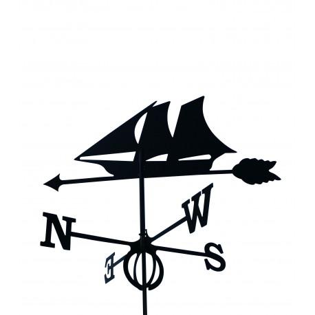 Wetterfahne Segelboot GROSS 75 cm x 93 cm