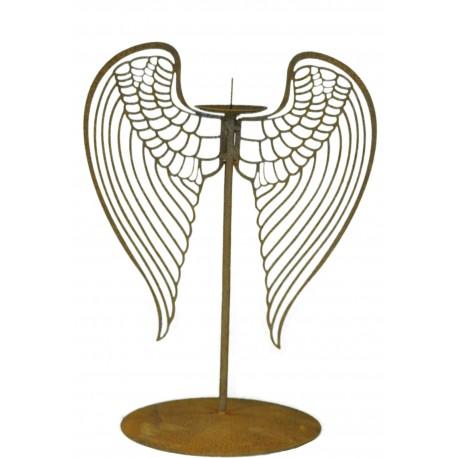 Kerzenständer mit filigranen Flügel (klein) 27 cm hoch