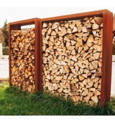 Holzlege Rechteck L schmal, Bausatz / Sichtschutz Höhe 220 cm, Breite 80 cm